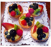 """Glazed Fruit Tarts"" Poster"