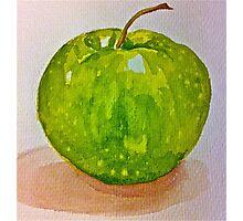 Large green apple Photographic Print