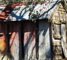 Hut of Timber & Corrugated Iron - Tuena Sticker