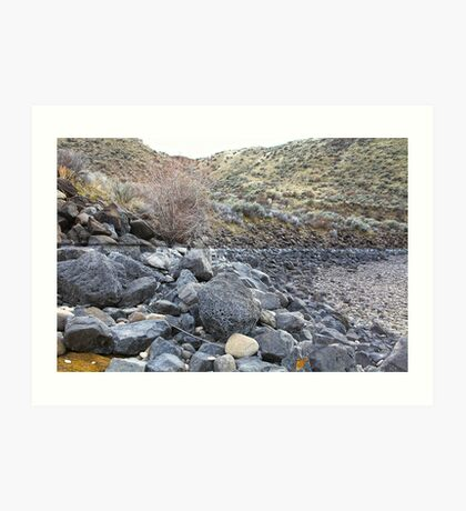Reservoir Rocks Art Print
