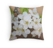 Wild Pear Blossom Throw Pillow