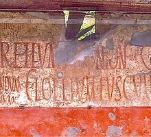 Advertising, Pompeii, 79AD by David Davies
