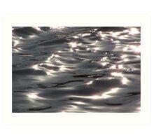 Silvery lake Art Print