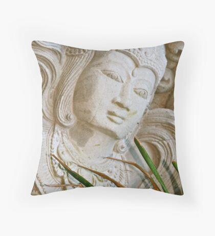 Bali Stone Carving Throw Pillow
