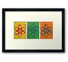 Bright Atoms Framed Print