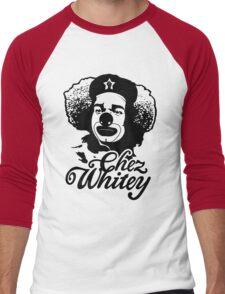 Chez Whitey (Black) Men's Baseball ¾ T-Shirt