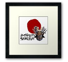 Jackalope Samurai Framed Print