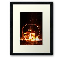 Pallet Fire 1 Framed Print