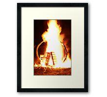 Pallet Fire 4 Framed Print