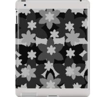 Grey Flowers iPad Case/Skin