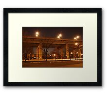 A Bridge in Queens Framed Print