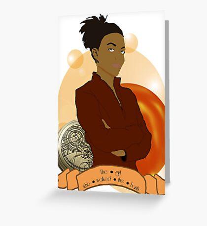 Doctor Who: The girl who walked the Earth - Martha Jones Greeting Card