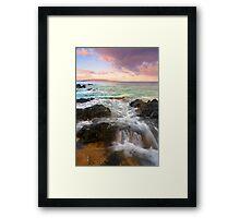 Sunrise Surge Framed Print