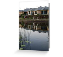 Reflecting on Suburbia Greeting Card