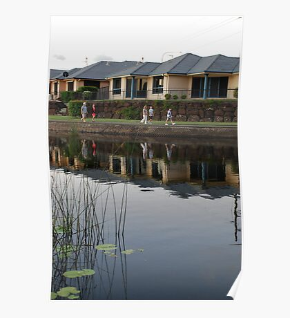 Reflecting on Suburbia Poster