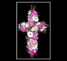 Floral Cross by Rose Santuci-Sofranko