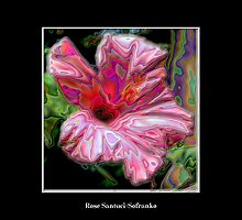Pink Hibiscus with Enamel Special Effect by Rose Santuci-Sofranko