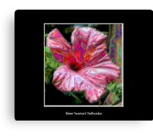 Pink Hibiscus with Enamel Special Effect Canvas Print