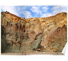 Layered - Golden Canyon - Death Valley Poster