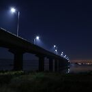 Dark Bridge Across the Bay by FarWest