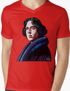 One must wear Oscar Wilde Mens V-Neck T-Shirt