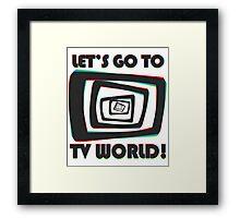 TV World Framed Print