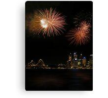 Sydney Fireworks Canvas Print