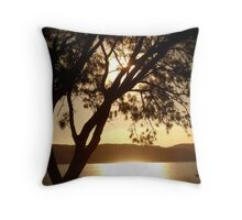 Pittwater Gold Throw Pillow