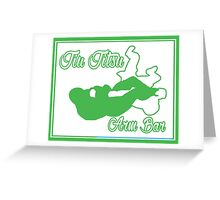 Jiu Jitsu Arm Bar Green  Greeting Card