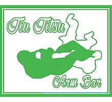 Jiu Jitsu Arm Bar Green  Photographic Print