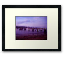 Sundown Jetty Framed Print