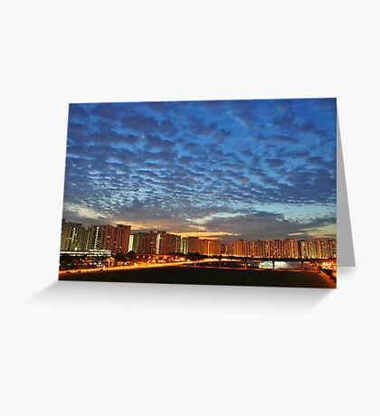 Blue dawn at Compassvale Greeting Card