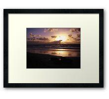 West Coast Sunset Framed Print