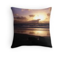 West Coast Sunset Throw Pillow