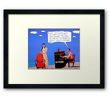 joe fingers Framed Print
