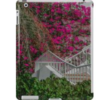 Egyptian White Stairway to Pink Bougainvillea iPad Case/Skin