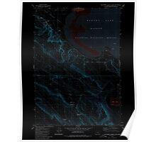 USGS Topo Map Oregon Southwest Harney Lake 281576 1980 24000 Inverted Poster