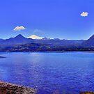 Lake and Volcano Villarrica Chile by Daidalos
