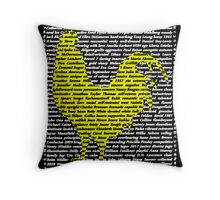 """""""The Year Of The Rooster / Cockerel"""" Throw Pillow"""