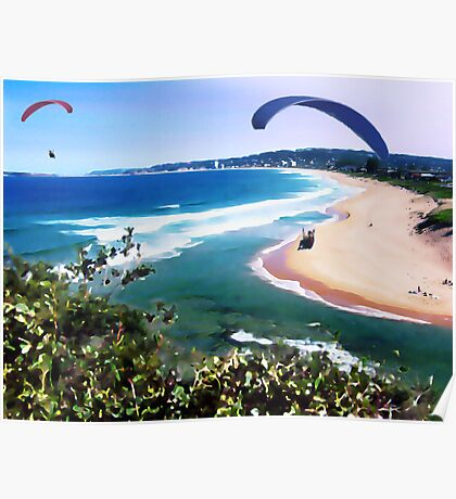 Narrabeen Watercolour Daubs Poster