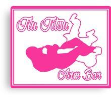 Jiu Jitsu Arm Bar Pink Canvas Print