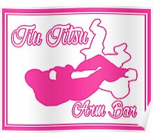 Jiu Jitsu Arm Bar Pink Poster