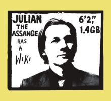Julian Assange has a Wiki Kids Clothes