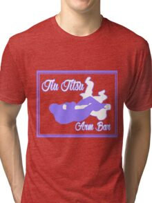Jiu Jitsu Arm Bar Purple  Tri-blend T-Shirt