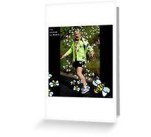 Eddie Izzard - covered in BEES Greeting Card