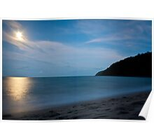 Etty Bay at Night, Nth Qld Poster