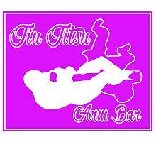 Jiu Jitsu Arm Bar White  Photographic Print