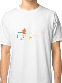 Colored spring birds geese ducks cranes Classic T-Shirt