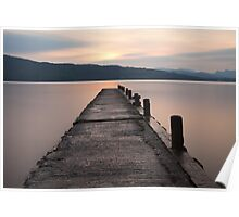 Sunset, Lake Windermere. Poster