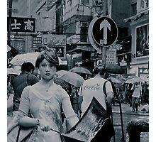 Hong Kong street scene Photographic Print